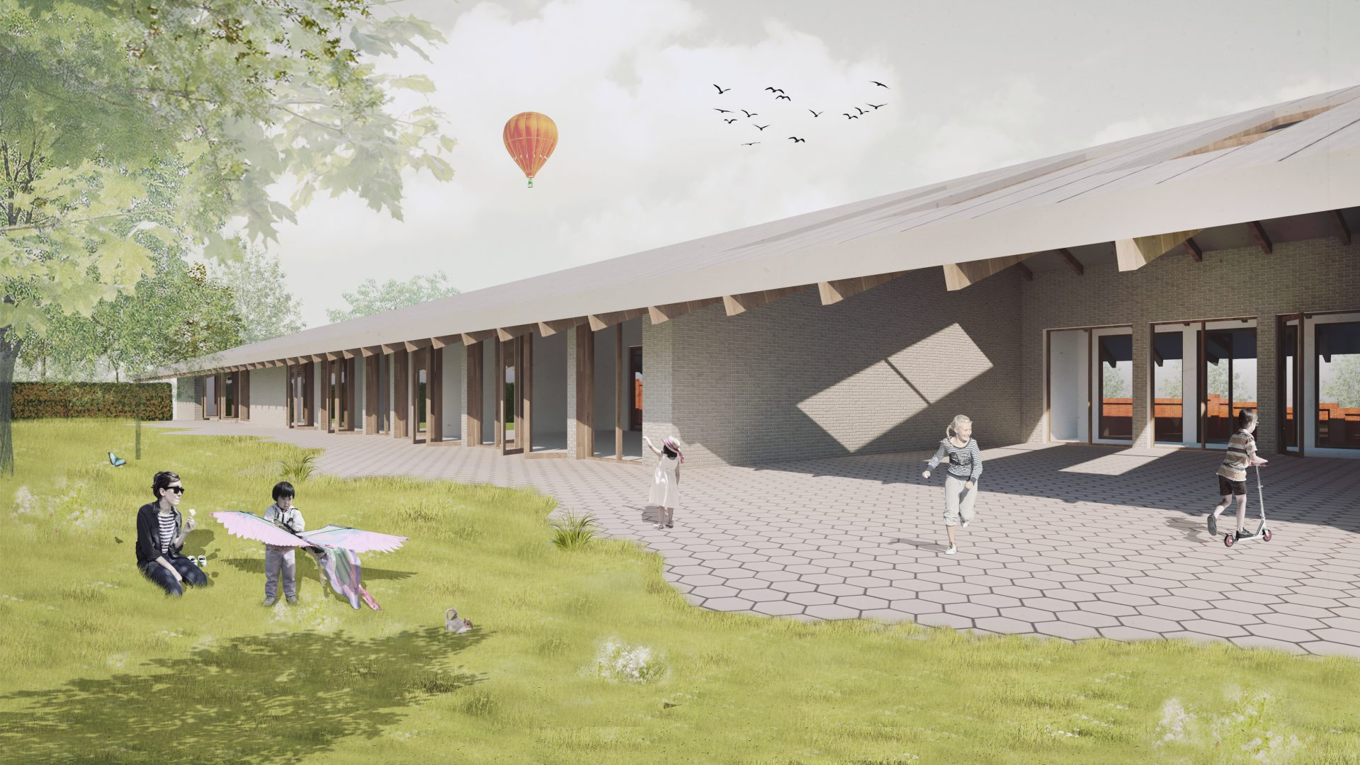 CroonenBuro5 en White Door Architects winnen architectenselectie Freinetschool De Kolibrie